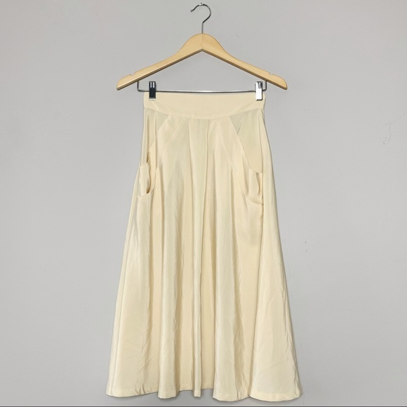 Vintage Dresses & Skirts - Beautiful cream midi skirt